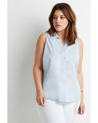 Forever 21 - Blue Classic Collared Shirt - Lyst
