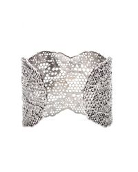 Aurelie Bidermann - Metallic Silver-plated Vintage Lace Cuff - Lyst