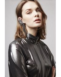 TOPSHOP | Black Unique Bateman Earrings | Lyst