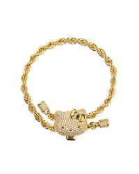 Noir Jewelry | Metallic Hello Kitty Twist Bracelet | Lyst