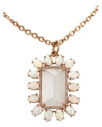 Irene Neuwirth | White Rainbow Moonstone Pendant Necklace | Lyst