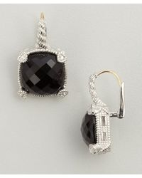 Judith Ripka - Black Large Cushion Stone Earring W4 - Lyst