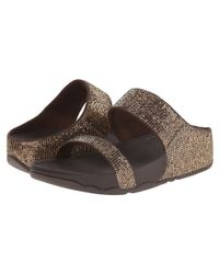 Fitflop | Metallic Lulu™ Superglitz Slide | Lyst