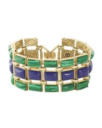 House of Harlow 1960 | Green Azure Mosaic Bracelet | Lyst