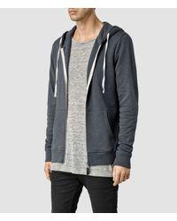 AllSaints - Gray Norths Hoody for Men - Lyst