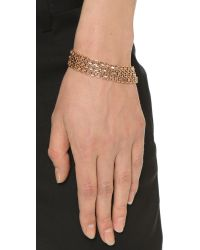 Eddie Borgo | Pink Lattice Link Bracelet - Rose Gold | Lyst