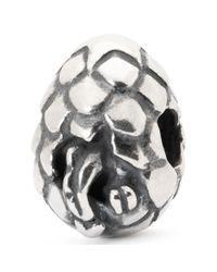 Trollbeads   Metallic Dragon Egg Sterling Silver Charm   Lyst