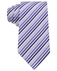 Geoffrey Beene - Purple Stripe Done Right Tie for Men - Lyst