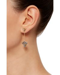Noor Fares - Metallic Geometry 101 Octahedron Drop Earrings - Lyst