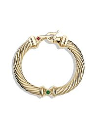David Yurman | Metallic Cable Classic Bracelet In Gold With Diamonds, 10mm | Lyst
