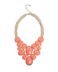 ALDO | Red Rosna Stone Set Coral Collar Necklace | Lyst