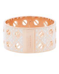 Henri Bendel - Pink Wide Cutout Bangle Bracelet - Lyst