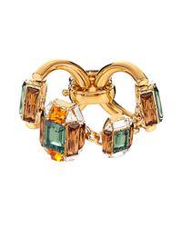 Gucci | Metallic Horsebit Crystal-Embellished Bracelet | Lyst