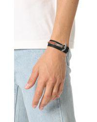 Miansai - Multicolor Modern Anchor Two Tone Wrap Bracelet for Men - Lyst