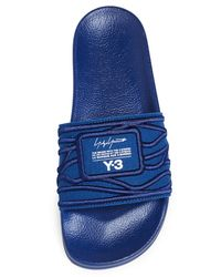 Y-3 - Blue Adilette Slides for Men - Lyst