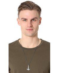Miansai - Metallic Anchor Necklace for Men - Lyst