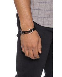 Miansai - Pink Hooked Leather Wrap Bracelet for Men - Lyst