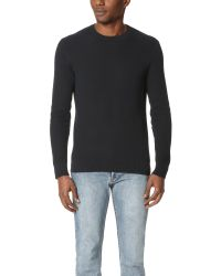 Theory | Black Hilbet Breach Crew Neck Sweater for Men | Lyst
