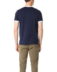 Fred Perry - Blue Taped Ringer Tee for Men - Lyst