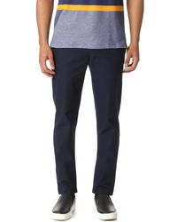 Lacoste | Blue Slim Fit Classic Chinos for Men | Lyst