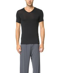 Calvin Klein | Black Body Modal V Neck T-shirt for Men | Lyst