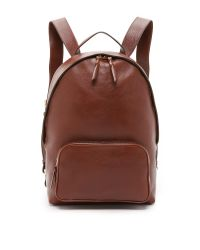 Lotuff Leather - Brown Zipper Backpack for Men - Lyst