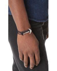 Miansai - Black Anchor Rope Wrap Bracelet for Men - Lyst