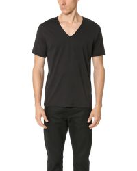 Sunspel | Black Superfine Cotton V Neck Undershirt for Men | Lyst