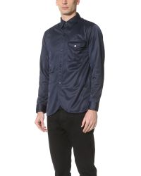 Han Kjobenhavn - Blue Army Shirt for Men - Lyst