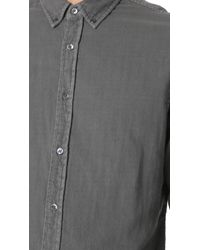 Baldwin Denim - Gray Otis Double Face Gauze Shirt for Men - Lyst