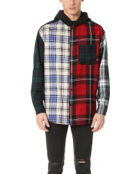 Alexander Wang | Multicolor Patchwork Hooded Overshirt for Men | Lyst