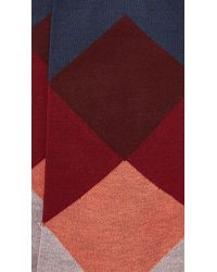 Etiquette | Blue Harlequin Socks for Men | Lyst