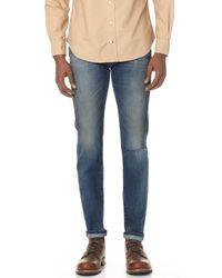Current/Elliott | Blue The Selvedge Slim Jeans for Men | Lyst