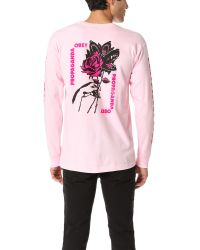 Obey | Pink Modern Lovers Long Sleeve Tee for Men | Lyst