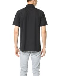 Lacoste - Black Raglan Performance Polo for Men - Lyst