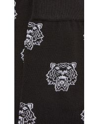 KENZO - Black Tiger Head Socks for Men - Lyst