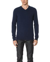 VINCE | Multicolor Cashmere Essentials V Neck Sweater for Men | Lyst