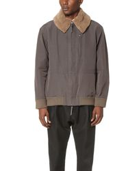 Robert Geller - Gray Raphael Bomber Jacket for Men - Lyst