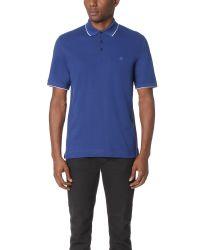 Z Zegna | Blue Cotton Pique Polo for Men | Lyst