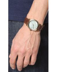 Nixon - Metallic The Time Teller Leather Watch for Men - Lyst