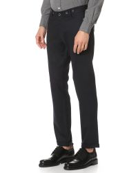 Barena - Blue Jersey Trousers for Men - Lyst