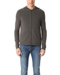 Theory | Gray Aires Kamero Cashmere Zip Hoodie for Men | Lyst