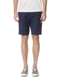 Theory - Blue Beck Deft Shorts for Men - Lyst