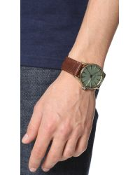 Nixon - Brown The Sentry Leather Watch for Men - Lyst