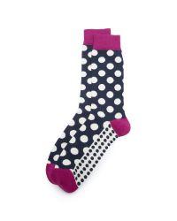 Ted Baker | Blue Edge Polka Dot Socks | Lyst