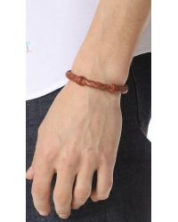 Chamula - Brown Round Woven Leather Bracelet for Men - Lyst