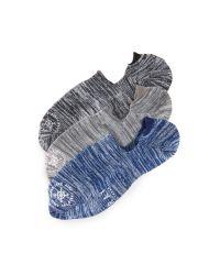 Mr Gray | Blue 3 Pack Hiki Soroi Melange Loafer Socks for Men | Lyst