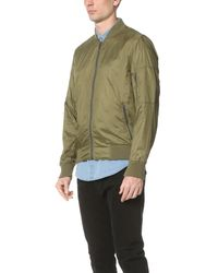 Calvin Klein Jeans - Green Nylon Aviator Jacket for Men - Lyst