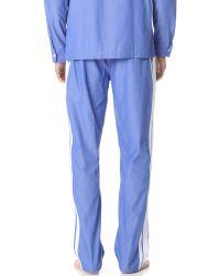 Sleepy Jones - Blue Marcel Poplin Trainer Pants for Men - Lyst