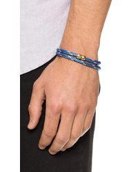 Miansai - Blue Casings Rope Bracelet for Men - Lyst